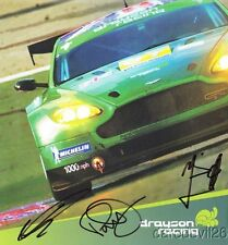 2009 Drayson Racing Aston Martin V8 Vantage GT2 signed Le Mans postcard
