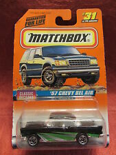 Matchbox  '57 Chevy Bel Air  Black  #31  Classic Decades 1:64 scale  NOC  (5)