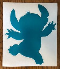 """Stitch TURQUOISE 6"""" Car Decal Sticker lilo and & cool slang love gift cute *I29*"""