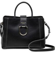 New Radley London Primrose Hill medium black gold  Bag D Loop leather tote