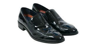 Cole Haan Warren Venetian Black Patent Leather Tuxedo Dress Shoes Size 11.5 Usa