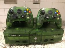 Microsoft Xbox Original Video Game Console Green Halo Special Edition Controller