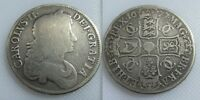 Collectable 1677 King Charles II Silver Crown Coin