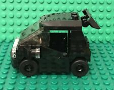 Lego Prebuilt MOC City Black Smart Car / Small  Utility Vehicle,Odometer,Spoiler