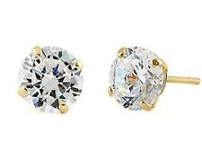 DIAMOND SOLITAIRE STUD EARRINGS 1 CWT SOLID 14 k YELLOW GOLD HALLMARKED GENUINE