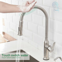 Smart Touch Sensor Stainless Steel Kitchen Faucet Swivel with Pull Down Sprayer