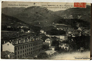CPA Postcard Sospel Barracks Fort Baker 1907 225Aa30