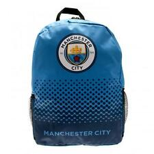 Manchester City Official Large Nylon Backpack School Bag With Mess Side Pockets