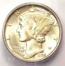 1928 Mercury Dime 10C Coin - Certified ICG MS65 FB (Full Bands) - $325 Value!
