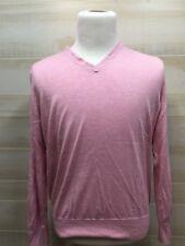 Banana Republic Mens Sweater Long Sleeve V-Neck Extra Large Pink Silk Cashmere