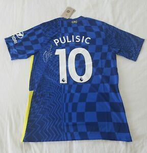 2022 Christian Pulisic Signed Chelsea Soccer Jersey HOME *PROOF USA GOLD