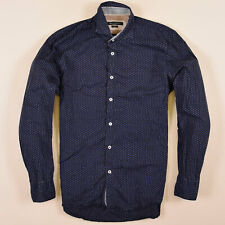 Marc O'Polo Herren Hemd Shirt Gr.L Slim Fit Polka Mehrfarbig, 72501