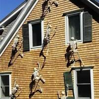 Halloween Scary Prop Luminous Hanging Human Skeleton Outdoor Party Decoration GB
