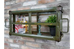 Military army case Wall Shelf Retro Vintage army Green Shelf Storage Unit 7738s