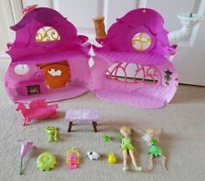 TINKERBELL HOUSE playset DISNEY FAIRIES pixie FAIRY COTTAGE set