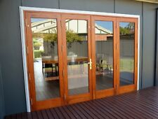TIMBER BIFOLD DOORS,SOLID CEDAR, PRE-HUNG, STAINED,NEW 2950x2100h, IN STOCK