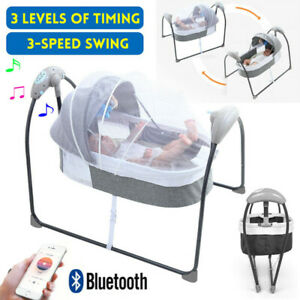 Baby Electric Bouncer Swing Chair Rocker Infant Cradle Seat Foldable Crib