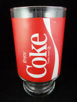 Vintage Coca-Cola Enjoy Coke Logo Pedestal Soda Glass