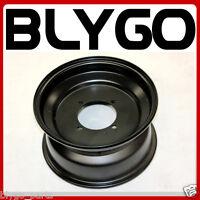 "Black 10"" Inch 90mm Hole 4 Stud Front Wheel Rim 250cc Quad Dirt Bike ATV Buggy"