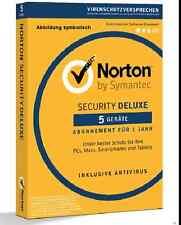 Norton (Internet) Security Deluxe 2016 2017 Lizenzkey für 5 Geräte 1 Jahr ESD