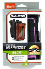 HC0956-M365 BALLISTIC iPhone 5 Hard Core Case (Black/Pink) with holster, Retail