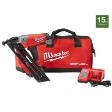Milwaukee Finishing Nailer Kit 18V Lithium-Ion Cordless 15-Gauge Battery Charger