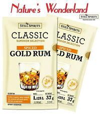 Classic SPICED GOLD RUM - 2 x 37g sachets = 2.25L - Still Spirits SPIRIT ESSENCE