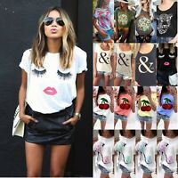 Fashion Lady Summer Casual T-shirts Women Short Sleeve Party OL Work Blouse Tops