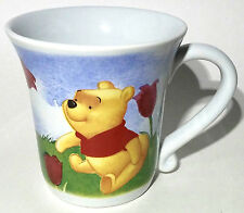 Winnie The Pooh Coffee Mug Tea Cup Large 16 oz with Red Tulips and Dragonfly