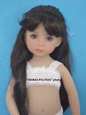 """perruque brune poupée moderne d'Artistes-tête18/19cm-Doll wig supplies sz7.5"""""""