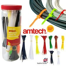 500Pcs Assorted Cable Ties Colours Length Zip Tie Red Various Sizes Amtech S0680