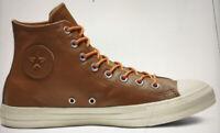 Men's Sneakers Converse CTA HI Leather Men's Boot Shoes 163337C Size 10 Brown