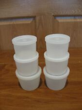 TUPPERWARE 6 pc -2 sets vintage Kit Kups small nesting snack cups with seals
