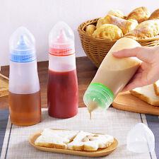 Plastic Squeeze Bottles Ketchup Mustard Sauce Oil Kitchen Condiment Dispenser