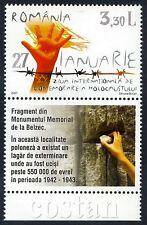 2007 Judaica,Holocaust,Belzec Memorial,Poland,Hand,Romania,Mi.6162,TAB,MNH