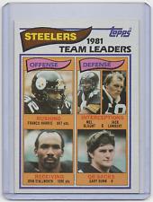 1982 Topps '1981 Team Leaders' #202 - PITTSBURGH STEELERS