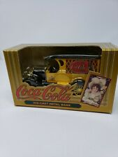 Coca Cola Die-cast Metal Bank ERTL 1923 Yellow Delivery Van Old Fashioned Coke