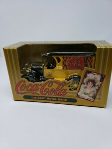 Coca Cola Die-cast Metal Bank ERTL 1923 Yellow Delivery Van Old Fashioned Coke