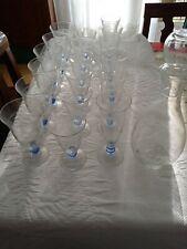 Bicchieri vintage set di 18 bicchieri di 3 tipi diversi più una caraffa