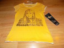 Size Medium 10-12 Disney Hannah Montana Miley Cyrus Yellow Gold T Shirt Top New