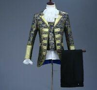 Classic Gothic Suit For Men Event Attire Costume Five-piece Set European Attires