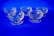 WEBB CORBETT CUT GLASS CRYSTAL SUNDAE DESSERT BOWL PRINCE CHARLES 4 MORE AVAILAB