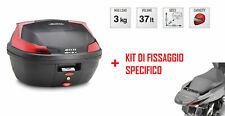 B37N Bauletto Posteriore 37 L + Attacchi per Honda PCX 125 2010-2020
