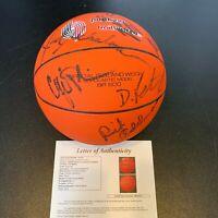 Drazen Petrovic Rookie 1989-90 Portland Trail Blazers Team Signed Basketball JSA