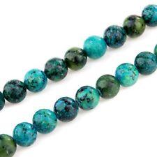 10 mm ball chrysocolla loose beads semi-precious stones F1D4