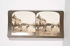 Photo Stéréo PERFECT v 1905 Avenue Nicolas II Paris Exposition Universelle 1900