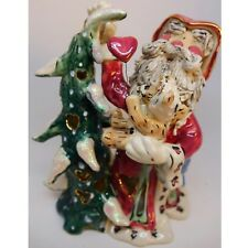 Santa Claus Christmas Blue Sky California Pottery Tea Light Decoration Goldminc