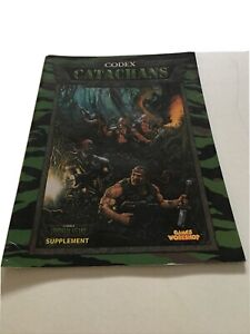 Games Workshop Warhammer 40K CODEX: CATACHANS 2000 SC VG+ OOP