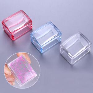 BORN PRETTY 3 Color Square Mahjong Jelly Silicone Nail Art Stamper & Scraper Set