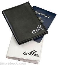pair of Mr. and Mrs. passport covers bride groom wedding gift honeymoon gifts